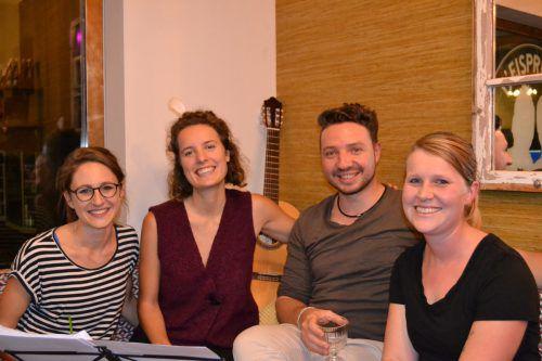 Corina Juriatti, Melanie und Tristan Uth sowie Hannah Juriatti überzeugten mit wunderschönen musikalischen Arrangements. BI