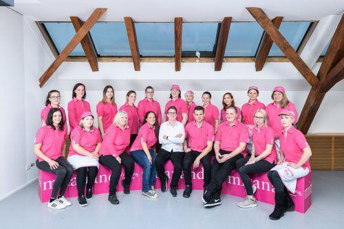 Das Team rund um Geschäftsleiterin Alexandra Höfle-Längle. Sutterlüty