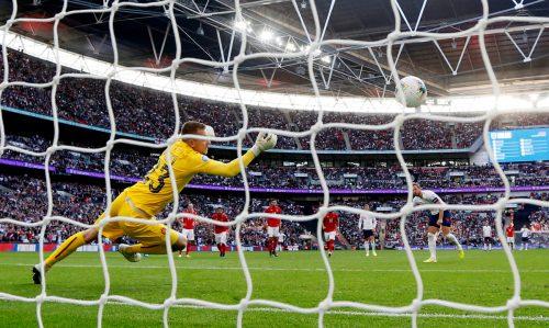 Das Wembley Stadion ist mit 90.000 Zuschauern das größte der zwölf Spielorte. Im Herzstück des englischen Fußballs werden am 7. und 8. Juli die beiden Halbfinali und am 12. Juli das Endspiel ausgetragen. AFP