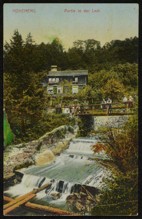 Der Gsohlbach auf einem Foto vor 1915.