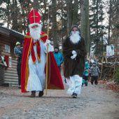 Der Nikolaus zu Gast im Wildpark