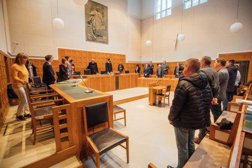 Der spannende Moment der Urteilsverkündung im Schwurgerichtssaal des Landesgerichtes Feldkirch.Sams
