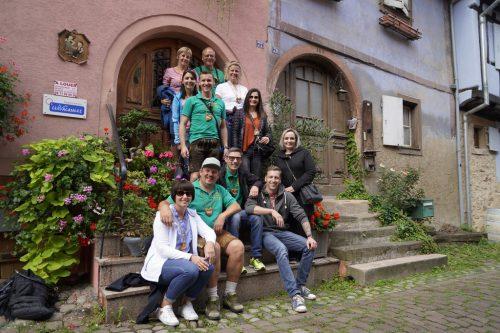 Der Zunftausflug führte die Mählbira nach Eguisheim und nach Freiburg.Mählbira