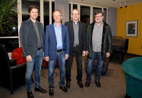 Die aktuellen Stadtärzte in Dornbirn: Dr. Bernhard Schlosser, Dr. Andreas Perle, Dr. Markus Albrecht, Dr. Reinold Böhler. Stadt