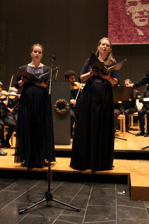 Die beiden Solistinnen beeindruckten das Publikum.