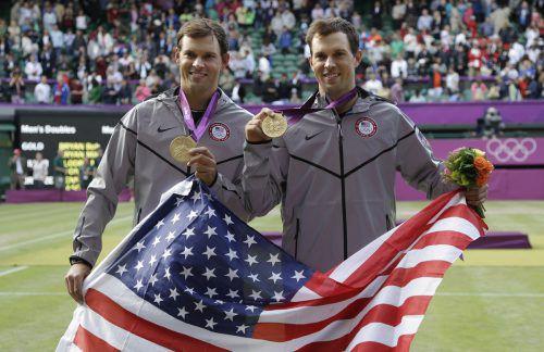 Die Bryans gewannen bei den Olympischen Spielen 2012 die Goldmedaille.AP