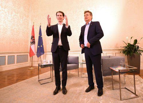 Die Chefs von ÖVP und Grünen lassen sich noch nicht in die Karten blicken. APA