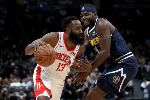 Die Denver Nuggets stoppen den James-Harden-Express der Houston Rockets. getty