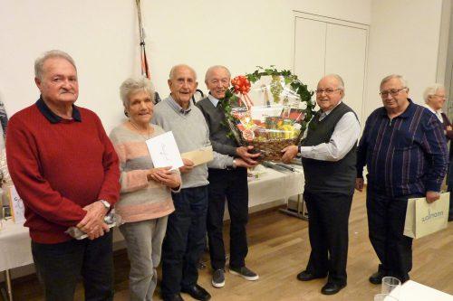 Die Gewinner beim Preisjassen.seniorenbund hohenems