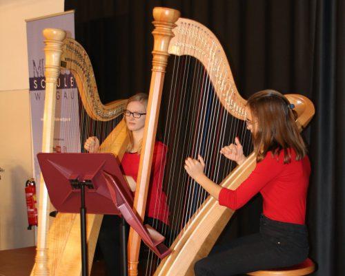 Die Harfe wird seit diesem Schuljahr unterrichtet.