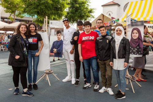 Die jungen Preisträger aus Lustenau durften sich zu Recht freuen.Christian grass