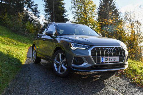Die neue Scharfkantigkeit steht dem Audi Q3 ausgesprochen gut.VN/Lerch