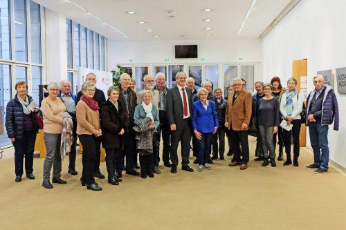 Die Seniorenbundmitglieder mit Landtagspräsident Harald Sonderegger.db sb 50+