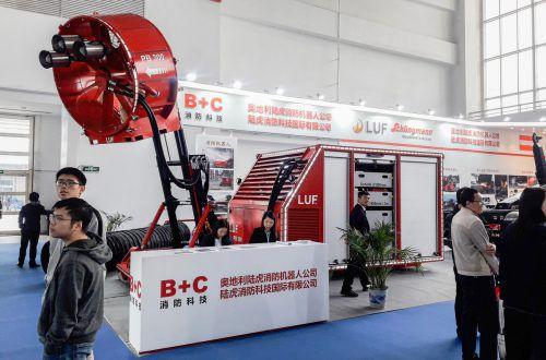 """Die Thüringer Firma LUF war bei der größten asiatischen Messe für Brandschutz, der """"China Fire"""" in Peking, vertreten und berichtet über großes Interesse der 40.000 Fachbesucher als 70 Ländern. """"Durch permanente Innovationen sind wir nach wie vor an der Spitze"""", freut sich Firmenchef Bruno Walter. Fa"""