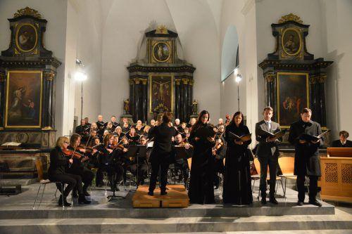 Die Vorarlberger Erstaufführung des Werkes in der vollbesetzten Oberdorfer Kirche hinterließ beim Publikum tiefen Eindruck. JU