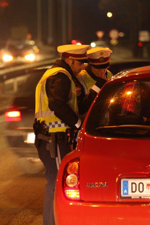 Diesmal in Dornbirn: Alkoholschwerpunktkontrolle der Polizei.vol.at/Vlach