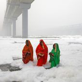 Dreck und Smog legen Delhi lahm