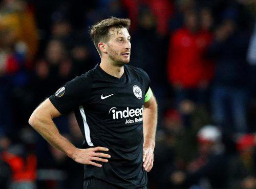 Ein enttäuschter Eintracht-Kapitän David Abraham nach Spielende.Reuters