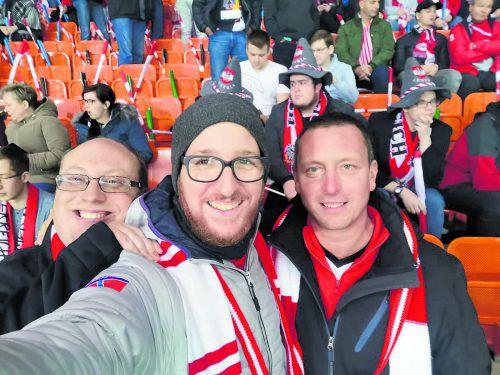 Ein Selfie mit den Kumpels im Ernst-Happel-Stadion darf nicht fehlen.