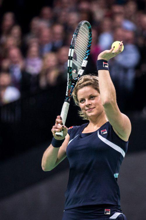 Eine Knieverletzung stoppt die Ambitionen von Kim Clijsters.ap