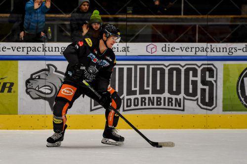 Emilio Romig und die Dornbirn Bulldogs stehen nach 17 Runden mit nur sieben Zählern auf dem letzten Platz.CDM