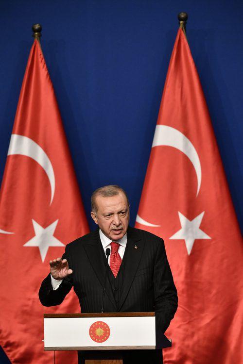Erdogan spricht von über tausend IS-Anhängern in türkischen Gefängnissen, darunter 737 Ausländer. AP