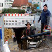 Neue Wasserleitungen in Lochau verlegt