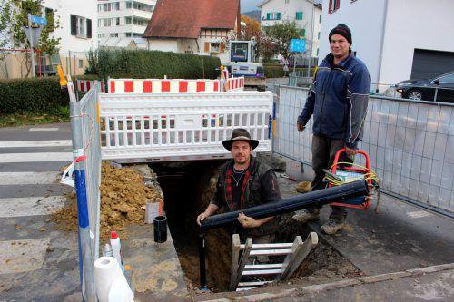 Erneuerung der Wasserleitung in der Lochauer Seilerstraße. bms