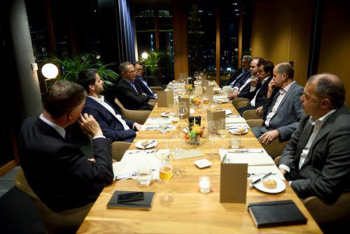 Erste-Group-Chef Andreas Treichl stellte sich in einem ausführlichen Gespräch den Fragen der Chefredakteure. C. Fabry