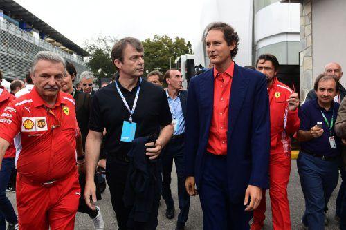 Fiat-Präsident John Elkann rügte Sebastian Vettel und Charles Leclerc.afp