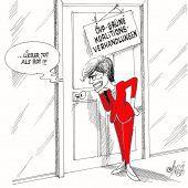 Horcherin an der Tür!