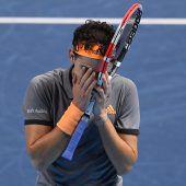 Dominic Thiem unterlag im Endspiel der ATP Finals Stefanos Tsitsipas 7:6, 2:6, 6:7. C1