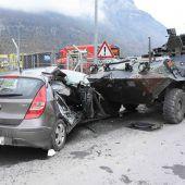 Unfall mit Panzer