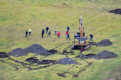Am 27. November 2019 hatten die Behörden erstmals nach illegal vergrabenem Müll im Schesa-Murbruch gesucht. VN/Lerch