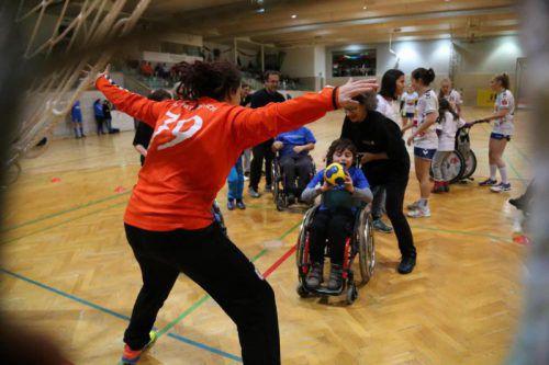 Für die Kinder des Schulheims Mäder ist der Handballtag in Feldkirch immer ein außergewöhnliches Ereignis, auf das sie sich jedes Jahr freuen.VN