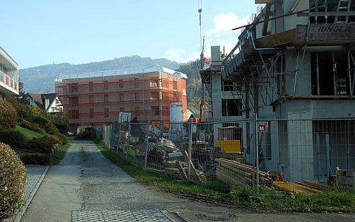Gegen Ende des kommenden Jahres werden in Bregenz beim Projekt im Bereich der Riedenburg rund 30 Wohnungen fertig. fst