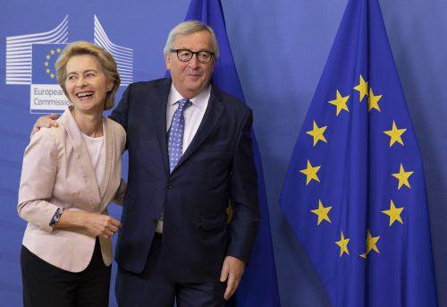 Gibt es grünes Licht für ihr Team, kann von der Leyen loslegen – und Juncker an der Spitze der Kommission ablösen. AP