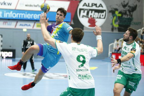 Hard-Goalgetter Ivan Horvat agierte in den letzten Partien in Hochform und muss dies gegen Cuenca bestätigen, will man im Europacup weiterkommen. GEPA