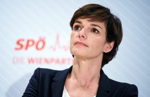 """""""Ich möchte die SPÖ auf gesunde Beine stellen"""", sagt Parteichefin Rendi-Wagner. APA"""