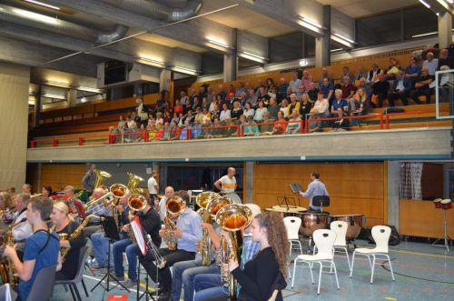 Im September fanden die ersten Gemeinschaftsproben für das heutige Konzert statt. Stadt bregenz/R. Jäger