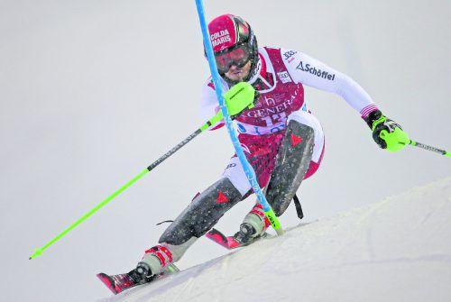 Im Vorjahr Achter, diesmal Siebter: Christian Hirschbühl war beim ersten Saisonslalom in Levi bester Österreicher.gepa