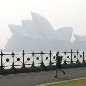 Gefährlich belastete Luft in Australien