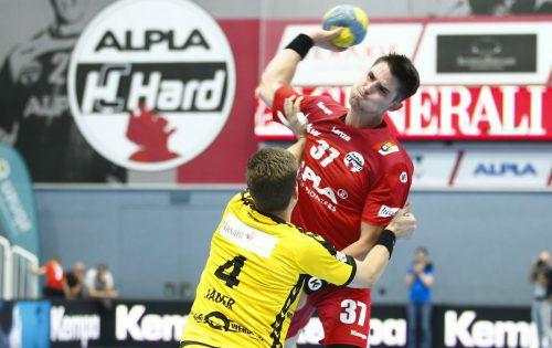 Ivan Horvat erzielte neun Treffer für den HC Hard in Bärnbach/Köflach.VN/Köss