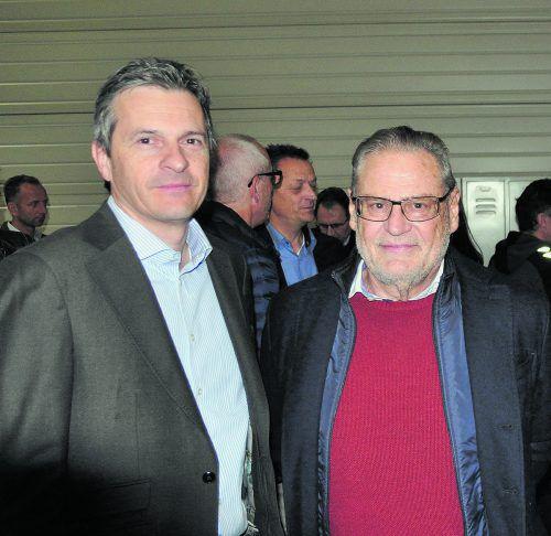 Jürgen Rauch und Roland Concin kamen zum Unternehmerfrühstück. HAB