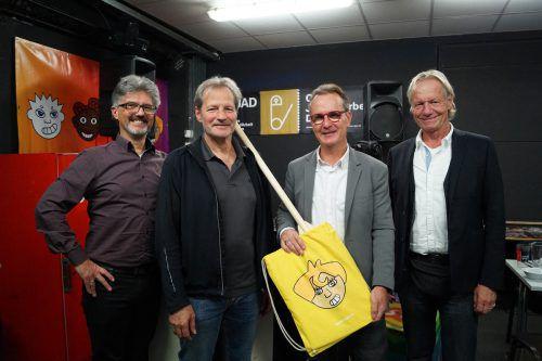 Jugendkoordinator Elmar Luger, Kurt Nachbaur (OJAD), Guntram Mäser und OJAD-Chef Martin Hagen. OJAD