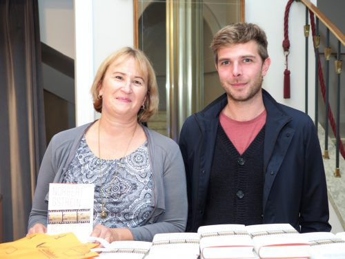 Karin Lämmerhirt-Meusburger (Sparkasse Bregenz) und Daniel Plankel.