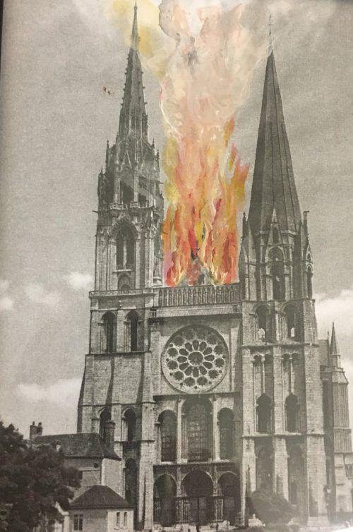Kleine Bilder, große Wirkung: Bechtold hat historische Dokumente oder Bilder aus Meyers Konversationslexikon übermalt. VN/CD