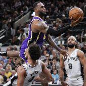 Lakers gaben Spurs das Nachsehen
