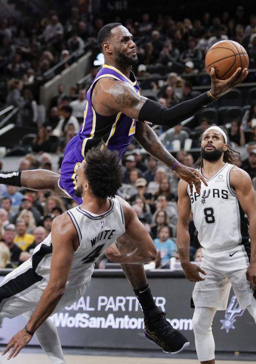 Lakers-Star LeBron James war von den Spurs nicht zu stoppen.ap