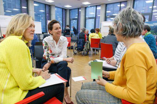 Landesrätin Martina Rüscher diskutierte bei der Veranstaltung in der AK mit. vlk/HM